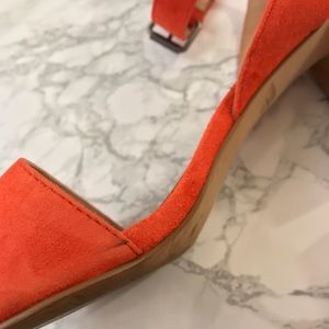 Madewell Shoes - Madewell Orange Block Sandals Size 7.5